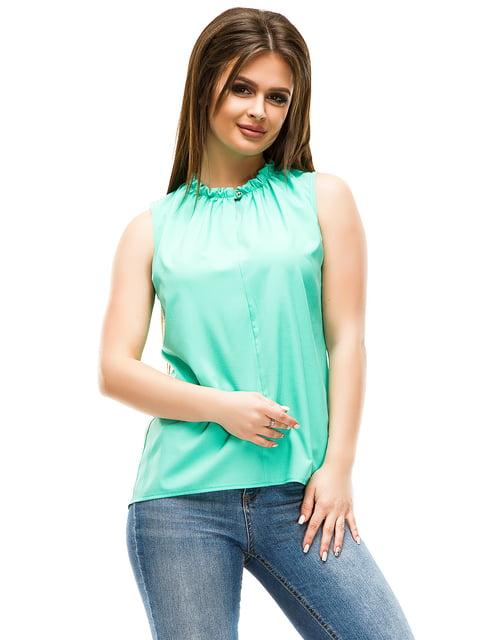 Блуза м'ятного кольору ELFBERG 4613708