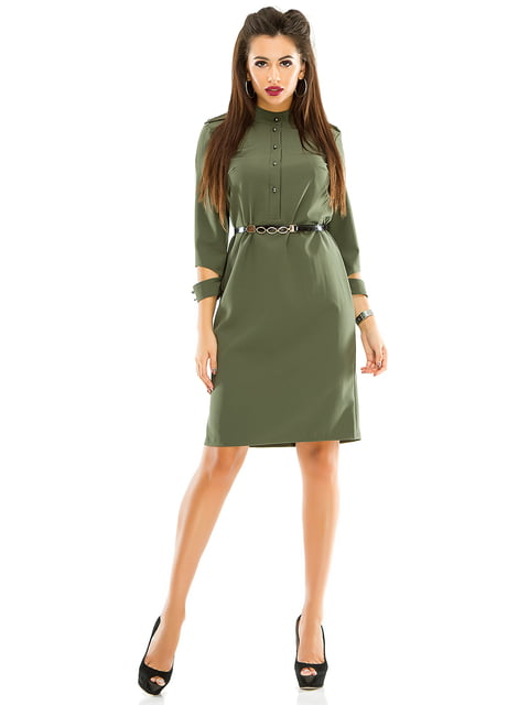 Платье оливкового цвета Exclusive. 4614715