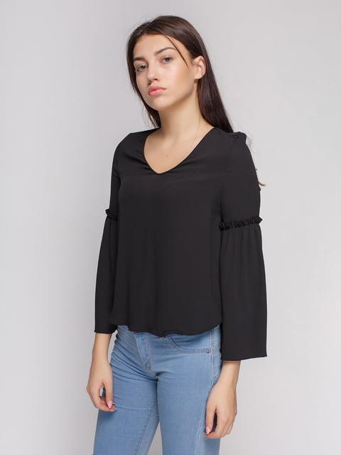 Блуза чорна Bershka 4564116