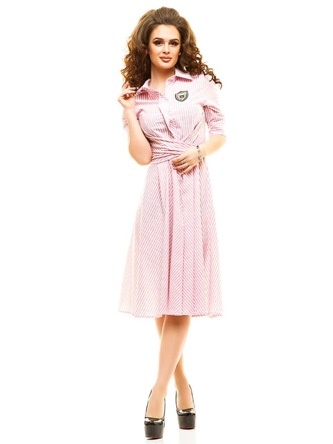 Сукня рожева у смужку Elegance Creation 4615462