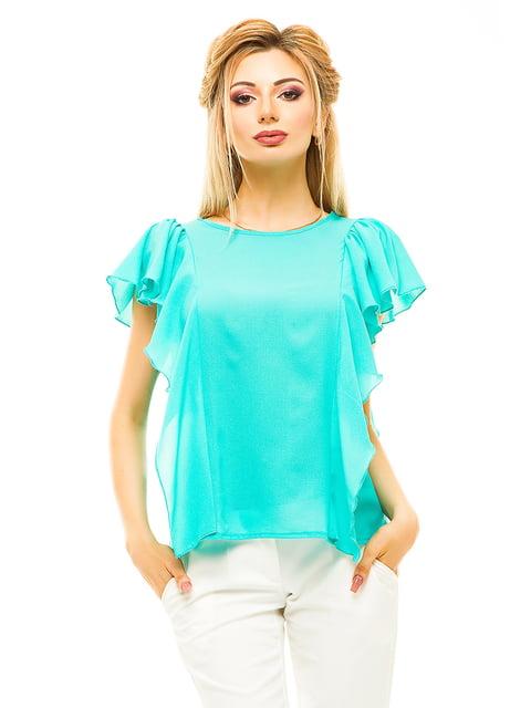 Блуза м'ятного кольору Elegance Creation 4615662