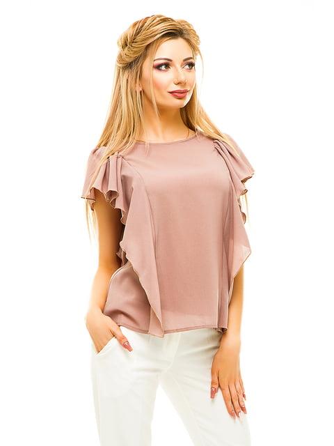 Блуза темно-бежева Elegance Creation 4615663