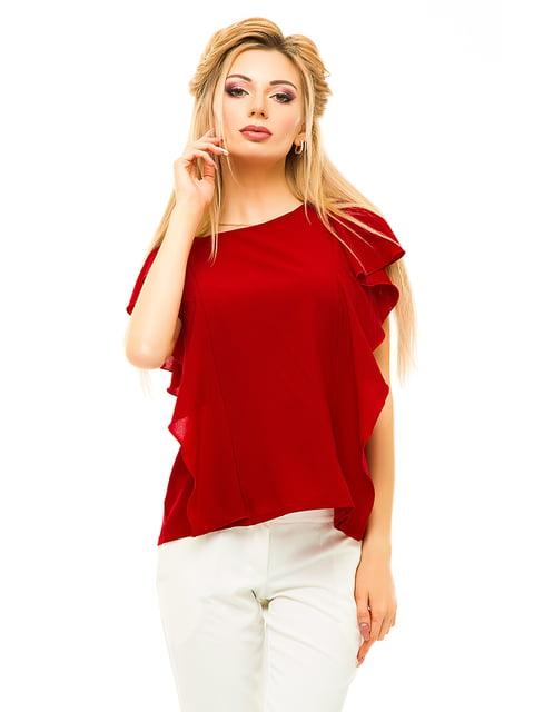 Блуза бордова Elegance Creation 4615679