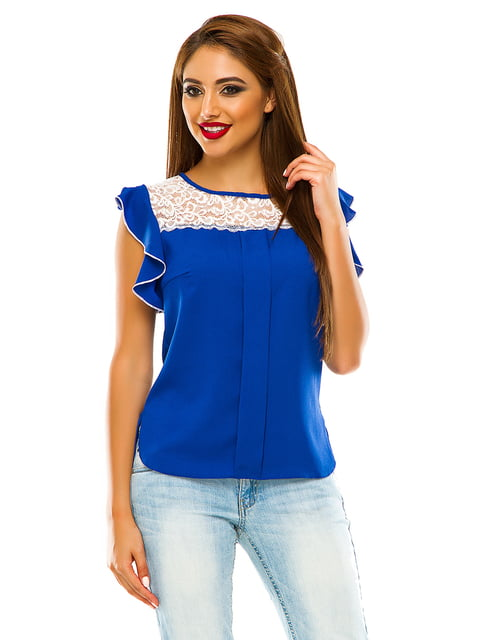 Блуза кольору електрик Elegance Creation 4615688
