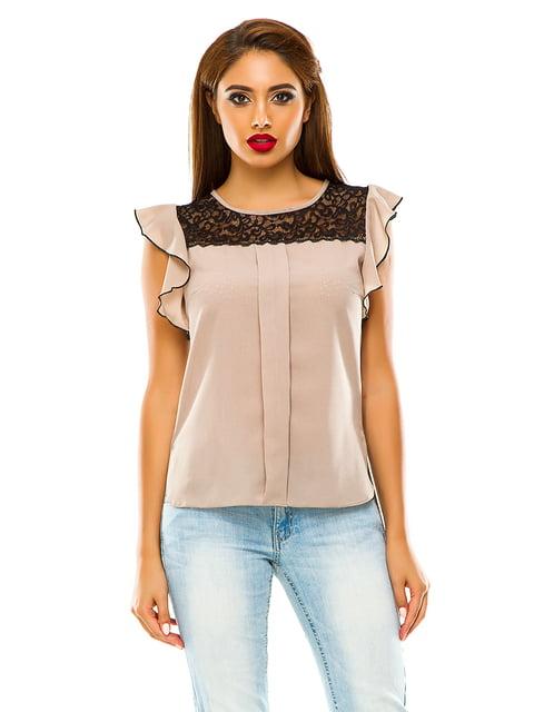 Блуза темно-бежева Elegance Creation 4615693