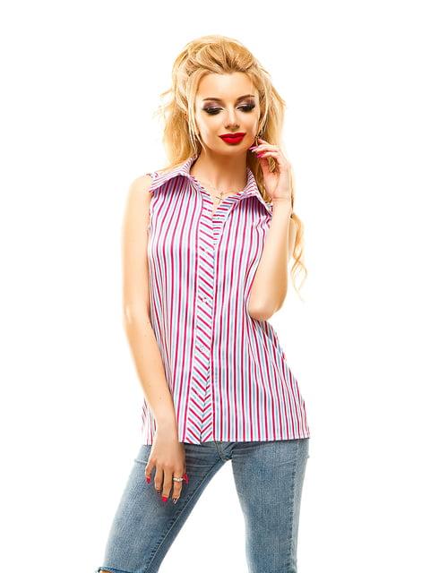 Сорочка малинового кольору в смужку Elegance Creation 4615946