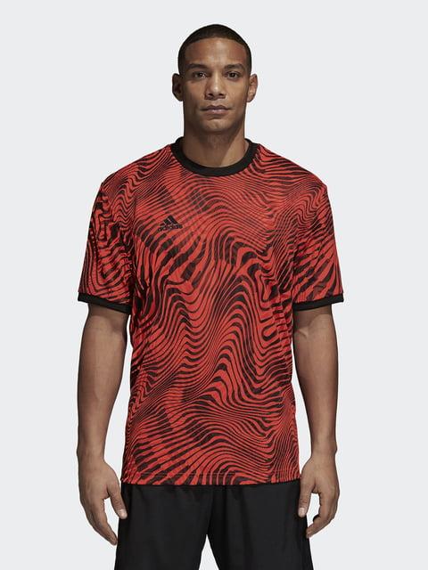Футболка красная в принт Adidas 4556499