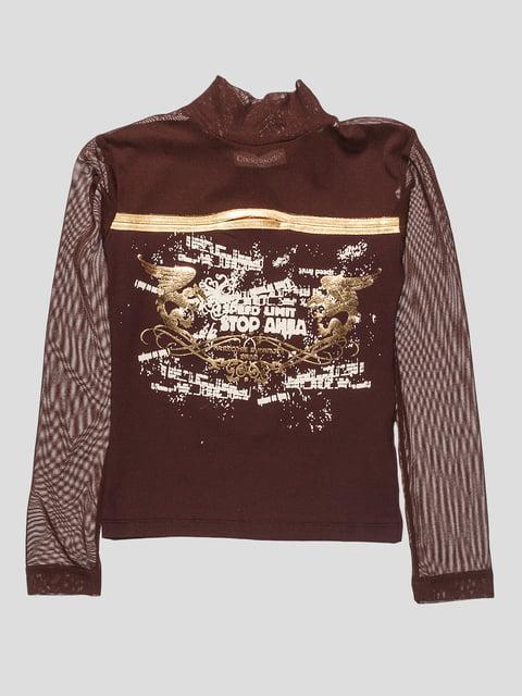 Гольф коричневый с принтом CHELA 2056782