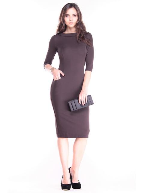 Платье шоколадного цвета Laura Bettini 2844939