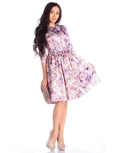 Платье в принт Laura Bettini 4619003