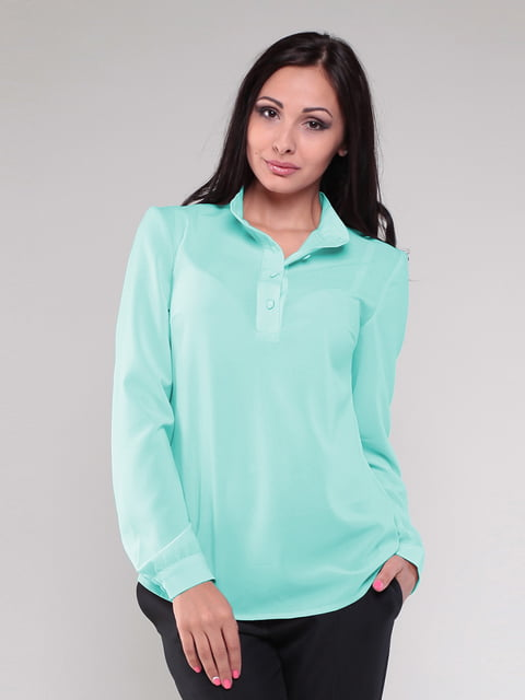 Блуза ментолового цвета Laura Bettini 4619126