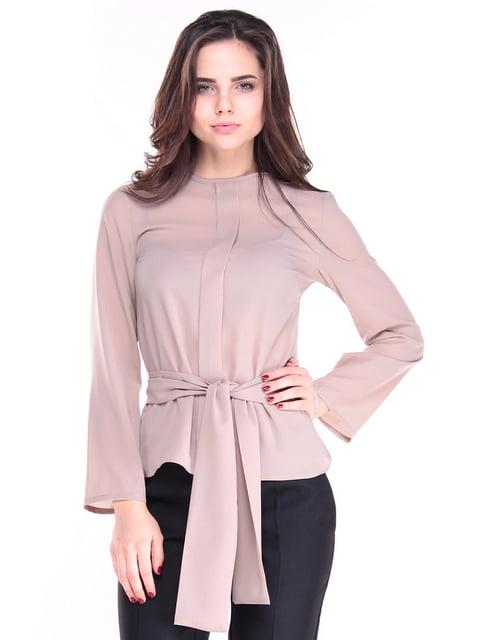 Блуза цвета мокко Laura Bettini 4619273