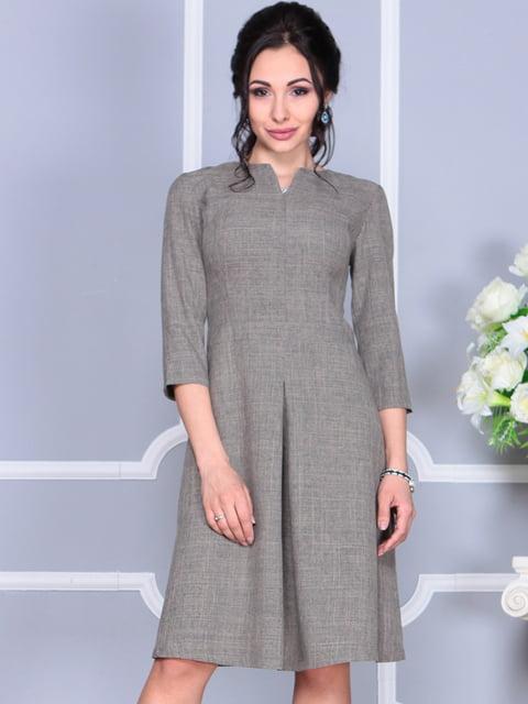 Платье цвета бежевый хаки Laura Bettini 4619276