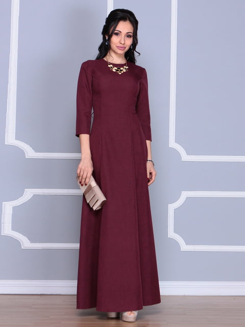 Платье темно-сливового цвета Laura Bettini 4619387