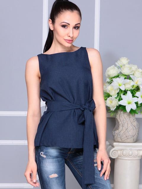 Блуза темно-синя Laura Bettini 4619528