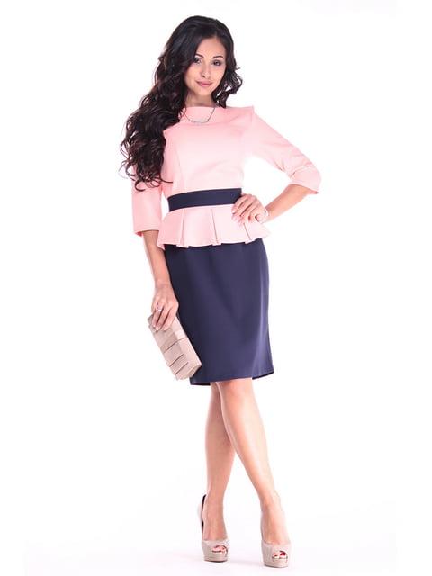 Платье персиково-синего Dioni 4619744