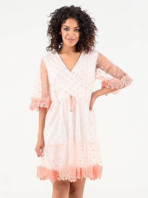 Платье розово-белое Magnet 4271872