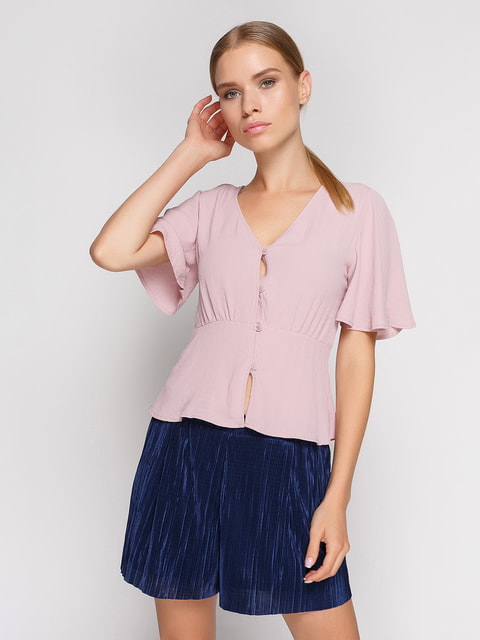 Блуза рожева Bershka 4576385