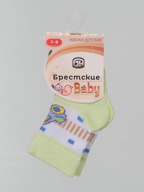 Носки мятного цвета с рисунком Conte Kids 4604371