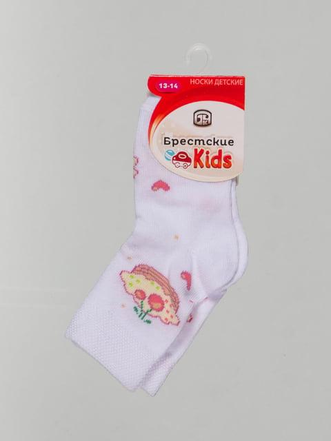 Шкарпетки білі з малюнком Conte Kids 4604373