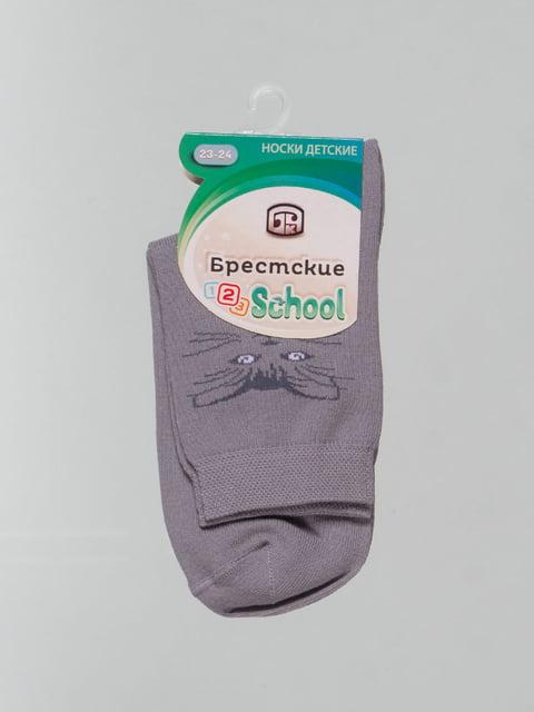 Носки серые с рисунком Conte Kids 4604389