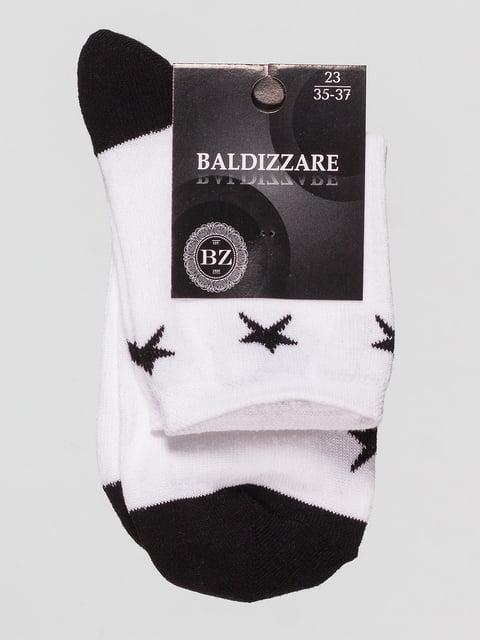 Шкарпетки білі в малюнок Baldizzare 4590662