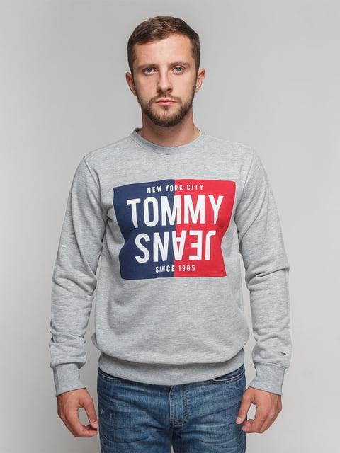 Свитшот серый Tommy Hilfiger 4622647