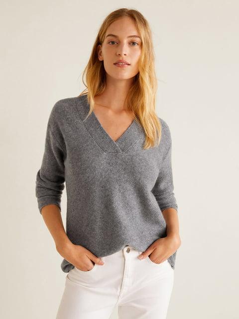 Пуловер серый Mango 4549186