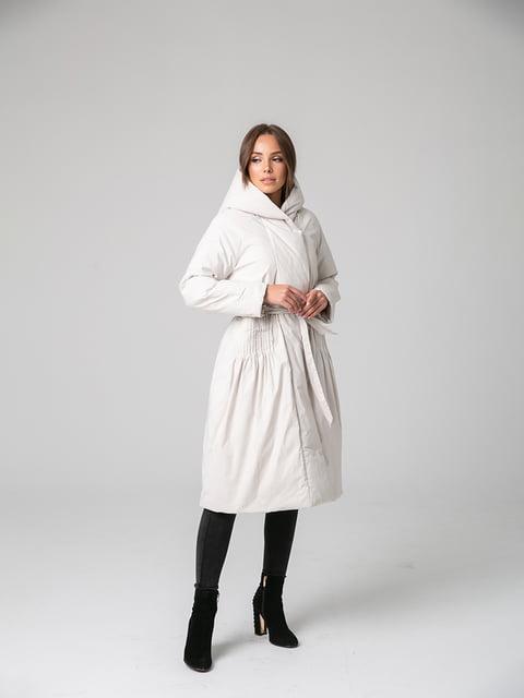 Пальто белое White Fox 4631127