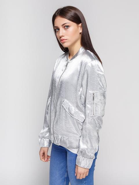 Бомбер сріблястий H&M 4596939