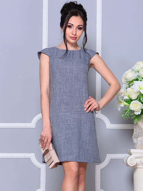 Платье дымчатого цвета Laura Bettini 4619225