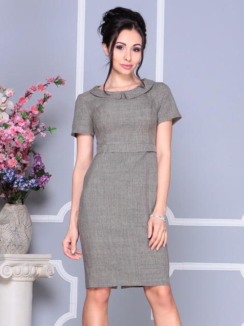 Платье цвета бежевый хаки Laura Bettini 4619444