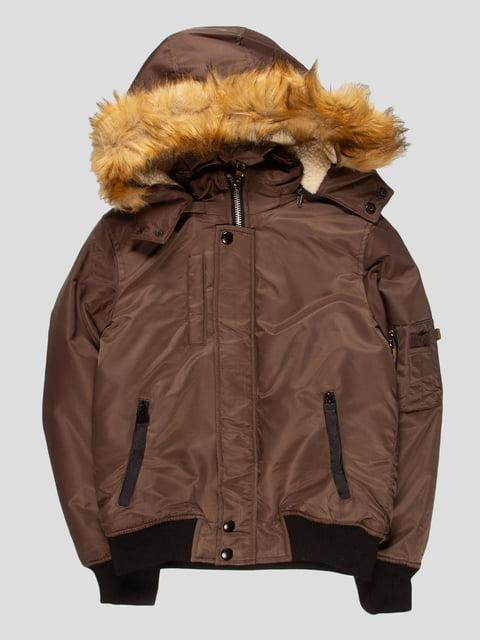 Куртка кольору хакі Nature 4629721