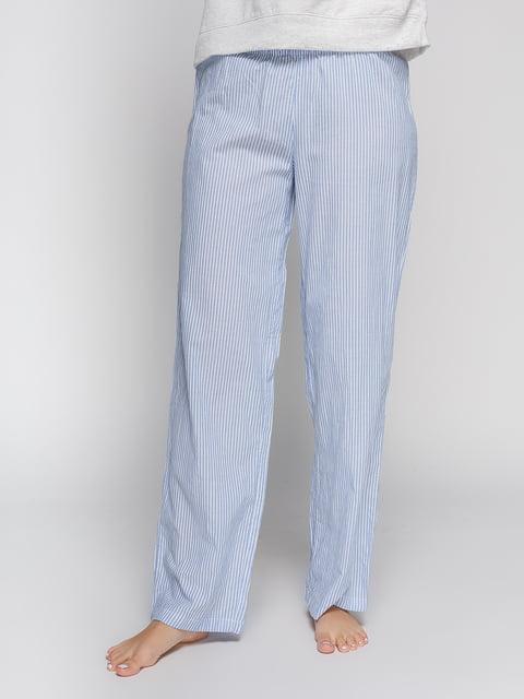 Брюки голубые в полоску пижамные H&M 4596780