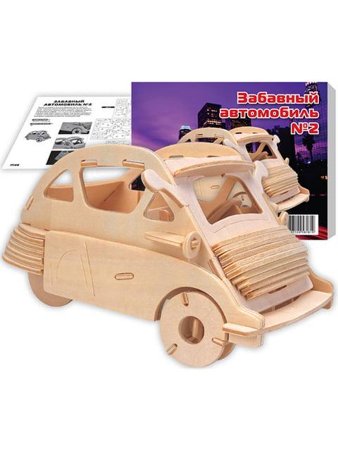 Збірна модель з дерева, 3D пазл «БМВ Изетта» Игрушки из дерева 4635118