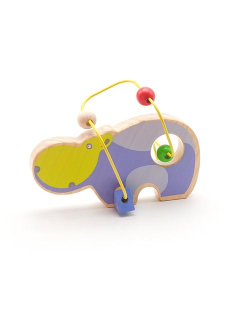 Розвивальна іграшка-лабіринт «Бегемот» Lucy&leo 4635204
