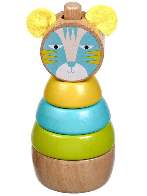 Дерев'яна іграшка-пірамідка «Кіт» Lucy&leo 4635212