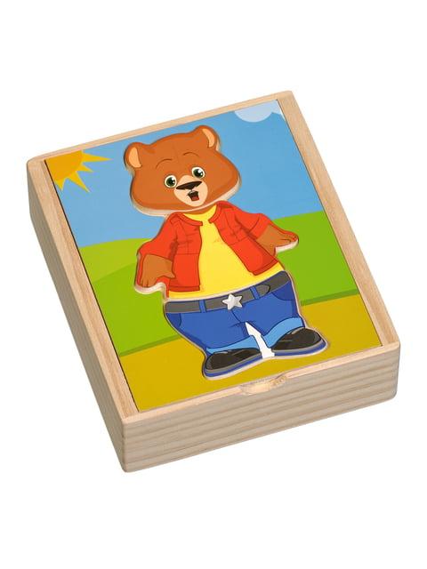 Розвивальна іграшка «Ведмедик Мишко» Игрушки из дерева 4635250