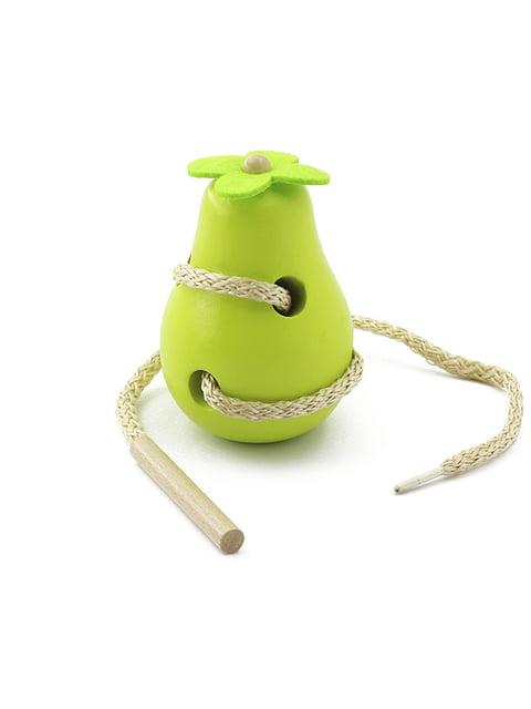 Дерев'яна іграшка-шнурівка «Груша» Игрушки из дерева 4635255
