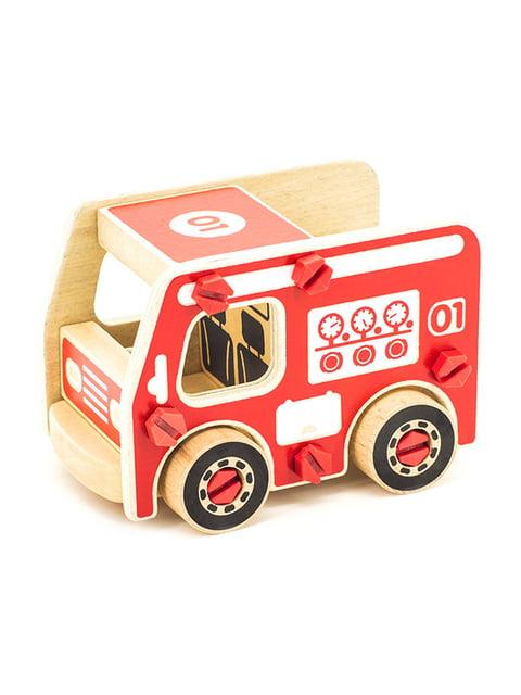 Дерев'яний конструктор «Пожежна машина» Игрушки из дерева 4635306