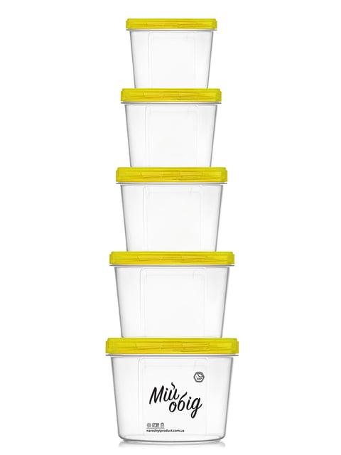 Набір контейнерів (0,2 л, 0,3 л, 0,5 л, 0,7 л і 1 л) Trendy 4635573