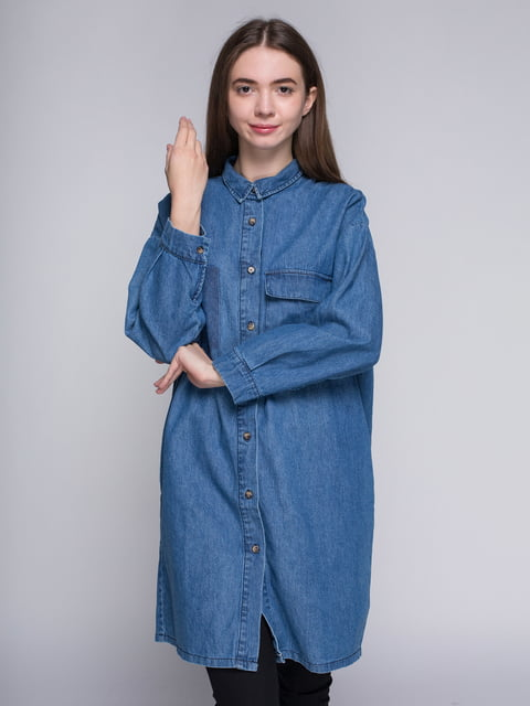 Куртка синя Bershka 4564251