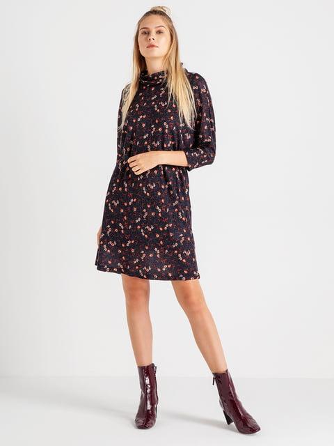 Сукня чорна в квітковий принт BGN 4641956