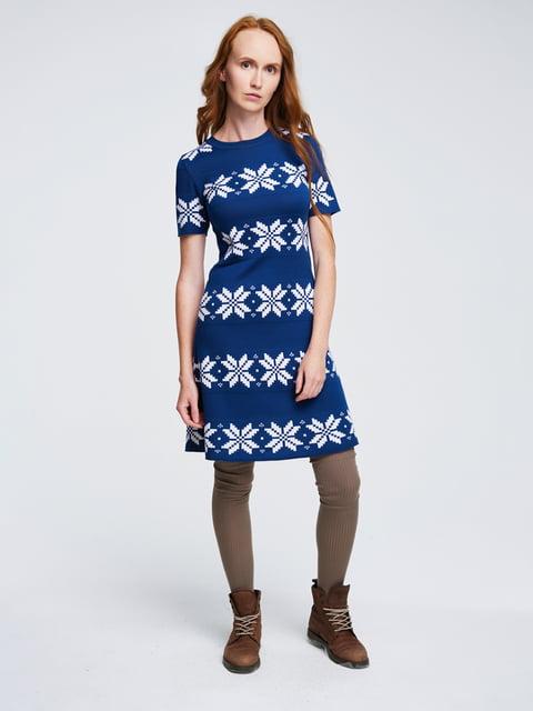 Платье синее с орнаментом G-Rom 4643615