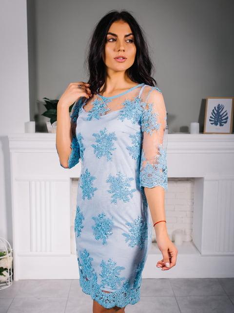 Платье голубое VSV 4645083