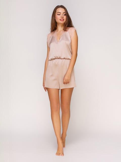 Комбинезон бежево-персикового цвета Lapin 4632299