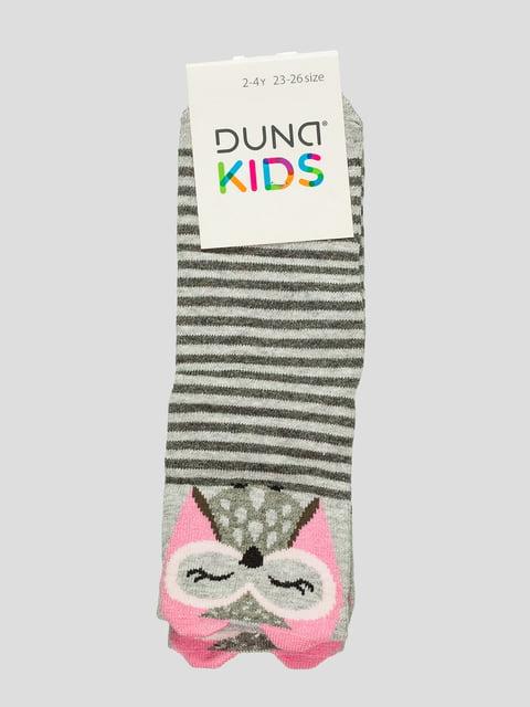 Шкарпетки світло-сірі з принтом Duna 4568368