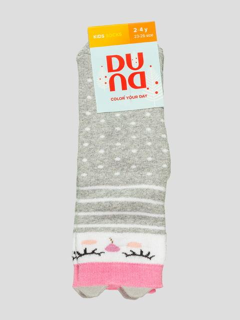 Шкарпетки світло-сірі махрові Duna 4568428