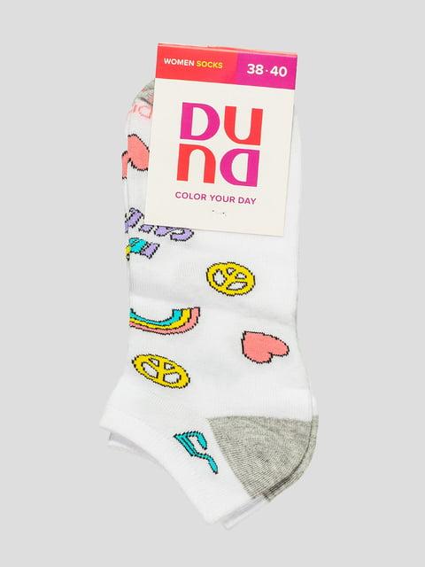 Шкарпетки білі в принт Duna 4568330