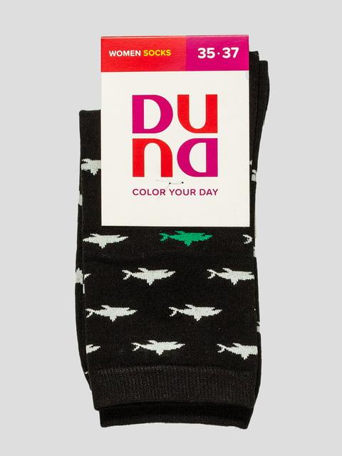 Шкарпетки чорні в принт Duna 4568329